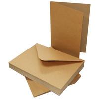 Craft UK : 5x7 korttipohjat ja kirjekuoret 50 kpl kraft