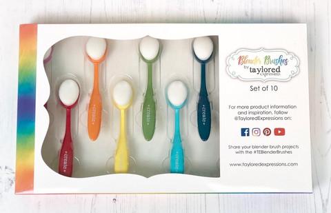 Taylored Expressions: Blender Brushes 10 pcs  - musteenlevittimet