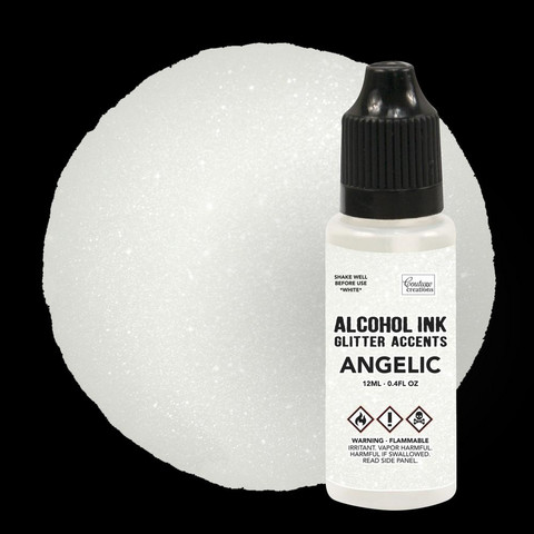 Couture Creations Alcohol Ink  Glitter Accents 12 ml :  Angelic  - alkoholimuste