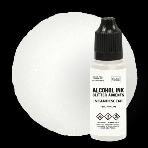Couture Creations Alcohol Ink  Glitter Accents 12 ml :  Incandescent - alkoholimuste
