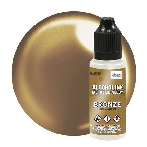 Couture Creations Alcohol Ink Metallic Alloy 12 ml :  Bronze - alkoholimuste