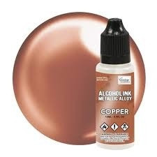 Couture Creations Alcohol Ink Metallic Alloy 12 ml :  Copper - alkoholimuste