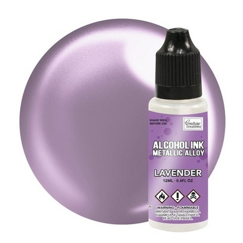 Couture Creations Alcohol Ink Metallic Alloy 12 ml :  Lavender - alkoholimuste