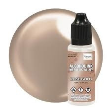 Couture Creations Alcohol Ink Metallic Alloy 12 ml :  Rose Gold - alkoholimuste
