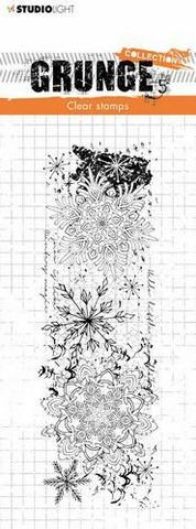 Grunge Collection: Snowflake Border #501 - leimasin