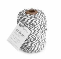Cotton Twist: Grey & White - leipurinnyöri