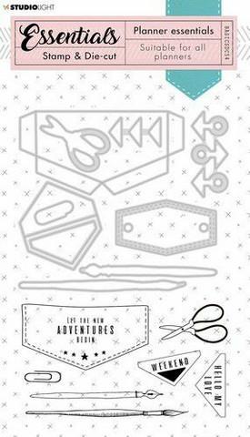 Studio Light Planner Essentials Stamps & Dies:  Jeans #54  - setti
