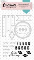 Studio Light Planner Essentials Stamps & Dies: Basics #51  - setti