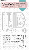 Studio Light Planner Essentials Stamps & Dies: Brace #53  - setti