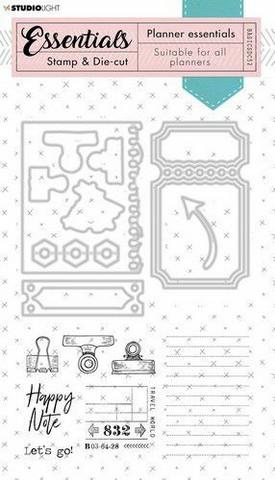 Studio Light Planner Essentials Stamps & Dies: Grunge #52  - setti