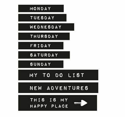 Studio Light Planner Essentials Washi Tape Set: Days of the week #15