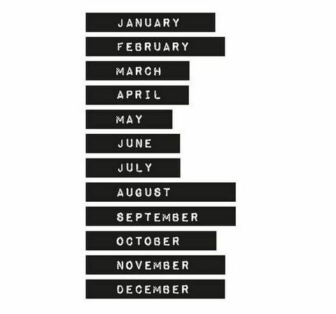 Studio Light Planner Essentials Washi Tape Set: Months of the year #14