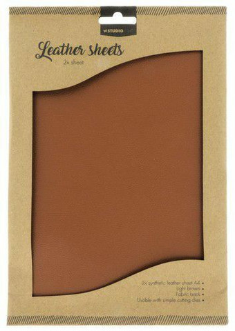 Studio Light A4 Leather Sheets: Light Brown