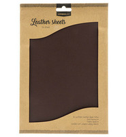 Studio Light A4 Leather Sheets: Dark Brown