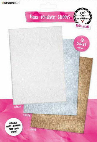 Studio Light A4 Leather Sheets: Art By Marlene ( Gold/Silver/White)