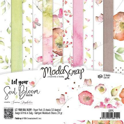 Modascrap: Let Your Soul Bloom 6x6 paperikokoelma