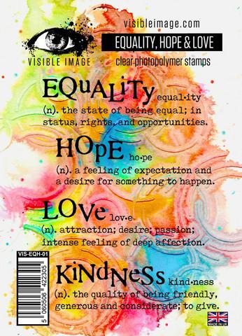 Visible Image: Equality, Hope & Love -leimasinsetti