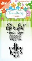 Joy Crafts: Coffee Txt - kirkas leimasinsetti