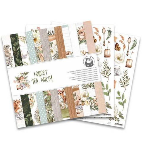 P13: Forest Tea Party 12x12 - paperikokoelma