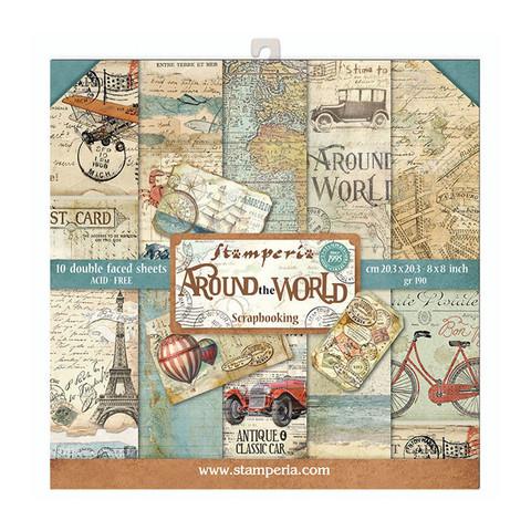 Stamperia: Around The World 8x8 - paperikokoelma