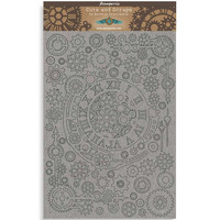 Stamperia Greyboard: Sir Vagabond  - Gears & Numbers A4 chipboard koristeet
