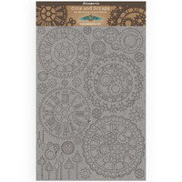 Stamperia Greyboard: Sir Vagabond  - Gears & Clocks A4 chipboard koristeet