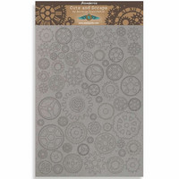 Stamperia Greyboard: Sir Vagabond  - Gears Small A4 chipboard koristeet