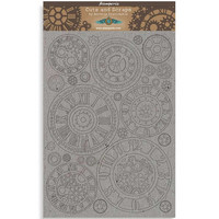 Stamperia Greyboard: Sir Vagabond  - Gears A4 chipboard koristeet