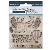 Stamperia Decorative Chips: Adventure - chipboard leikkeet