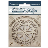 Stamperia Decorative Chips: Compass - chipboard leikkeet