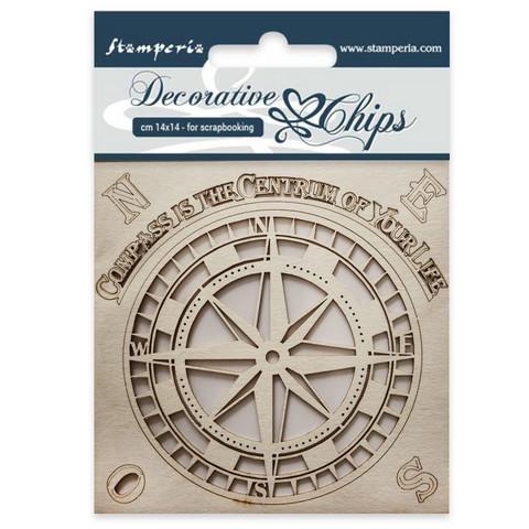 Stamperia Decorative Chips: Compass - chipboard leikkeet
