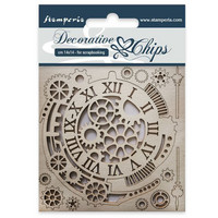 Stamperia Decorative Chips: Gears & Clocks - chipboard leikkeet