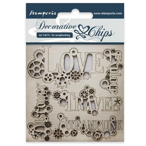 Stamperia Decorative Chips: Sentiments - chipboard leikkeet