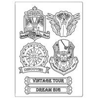 Stamperia Mixed Media Silicon Mold A5: Sir Vagabond Vintage Tour
