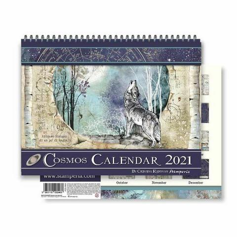 Stamperia Calendar 2021: Cosmos - seinäkalenteri