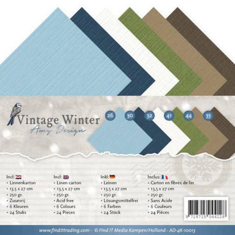 Vintage Winter 13,5 x 27 cm -kartonkipakkaus