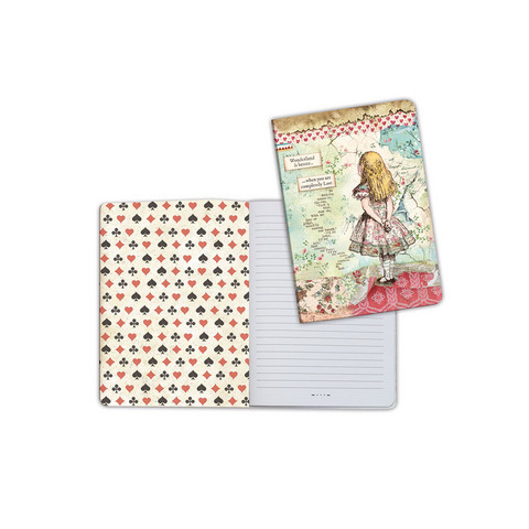 Stamperia: Alice A5  - vihko