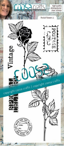 Coosa Crafts: Postal Flowers 1 - leimasinsetti