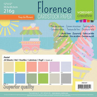 Florence: Pastel 12x12 (30,5 x 30,5 cm) -kartonkipakkaus