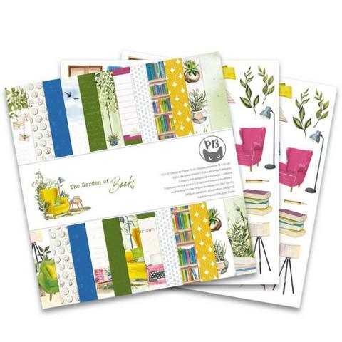 P13: The Garden of Books 12x12 - paperikokoelma