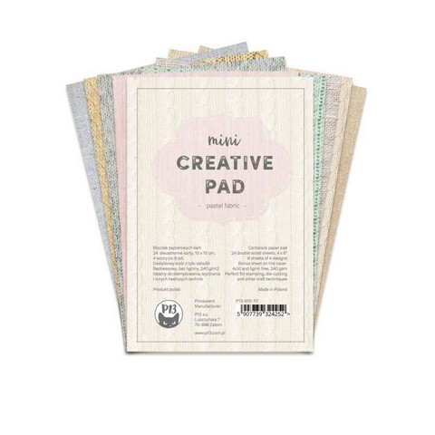 P13 : Creative Pad - Pastel Fabric A6 - paperikokoelma