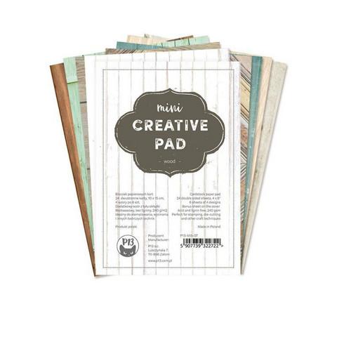 P13 : Creative Pad - Wood A6 - paperikokoelma