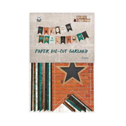 P13: Free Spirit Die Cut Garland -koristepakkaus