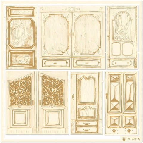 P13 Light Chipboard Embellishments: The Garden of books 4  - koristepakkaus