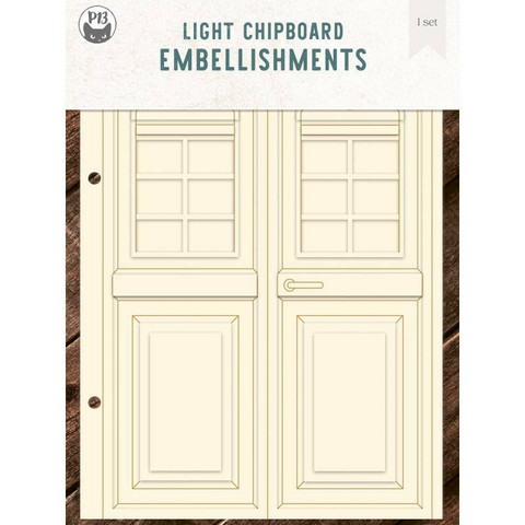 P13 Light Chipboard Album Base Door  - albumipakkaus
