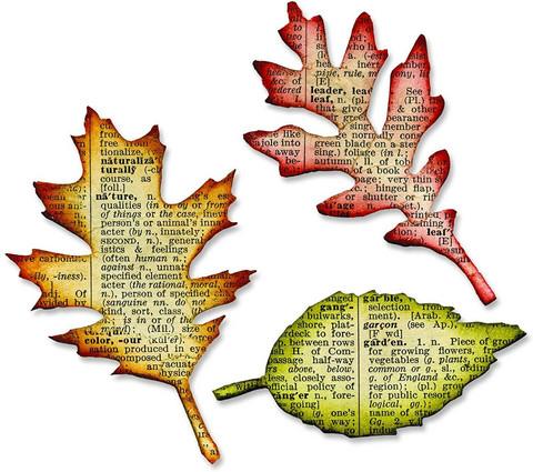 Sizzix Bigz: Tattered Leaves -stanssi