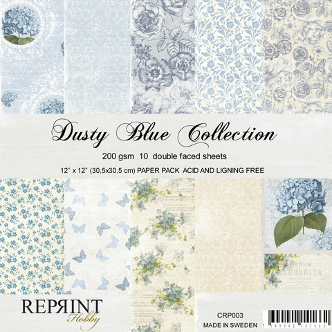 Reprint: Dusty Blue Collection 12x12 kokoelma