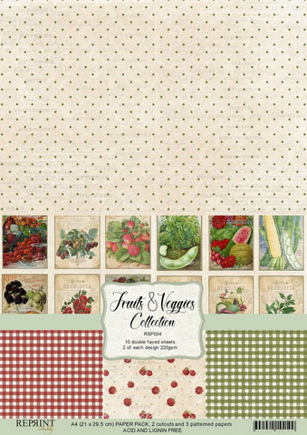 Reprint: Fruits & Veggies Collection A4 - paperikokoelma