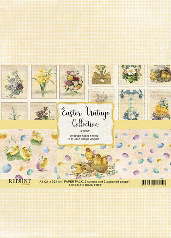 Reprint: Easter Vintage Collection A4 - paperikokoelma
