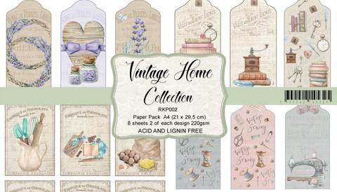 Reprint: Vintage Home Collection A4 - korttikuvakokoelma